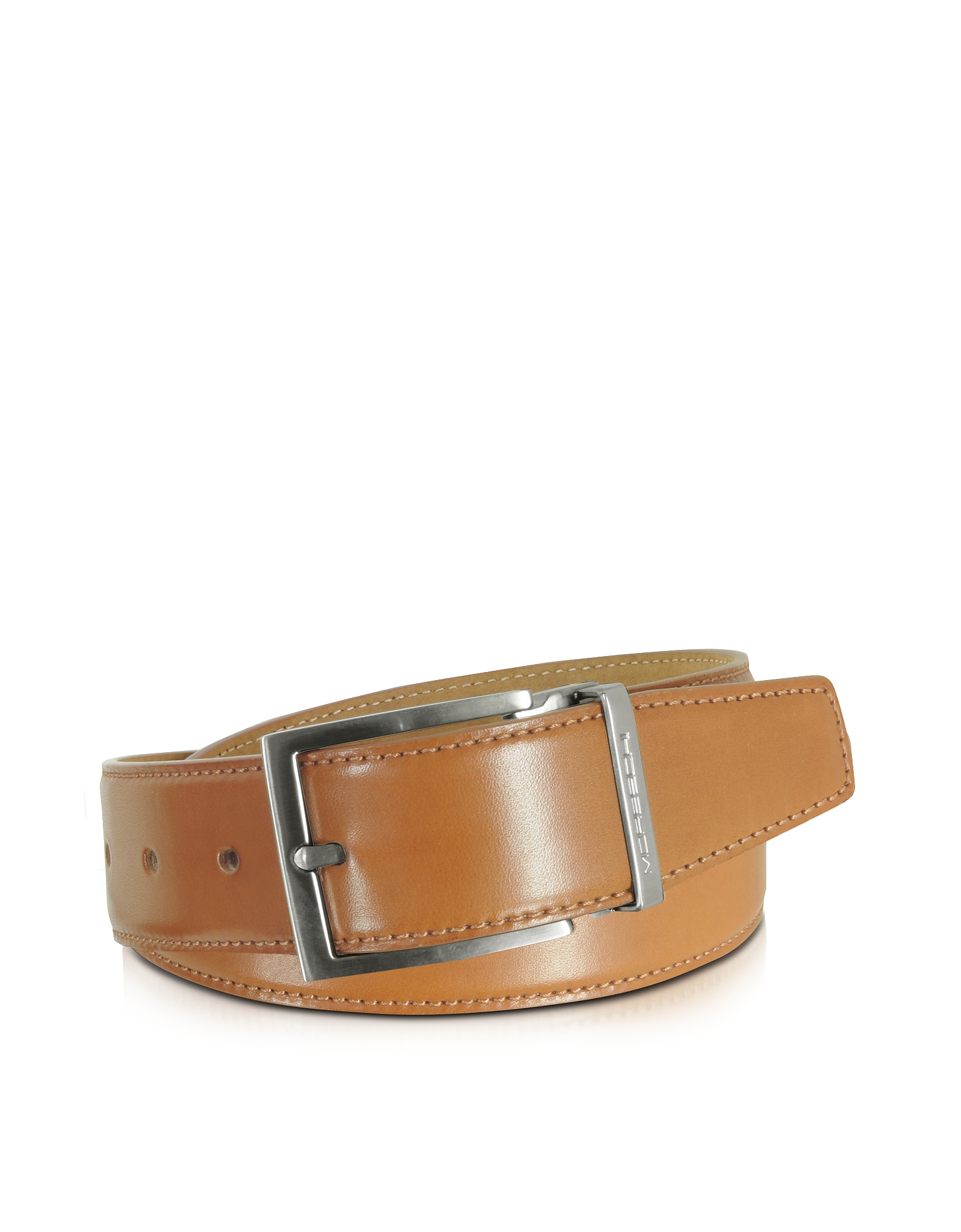 Moreschi Men's Belts, Eton Tan Leather Belt