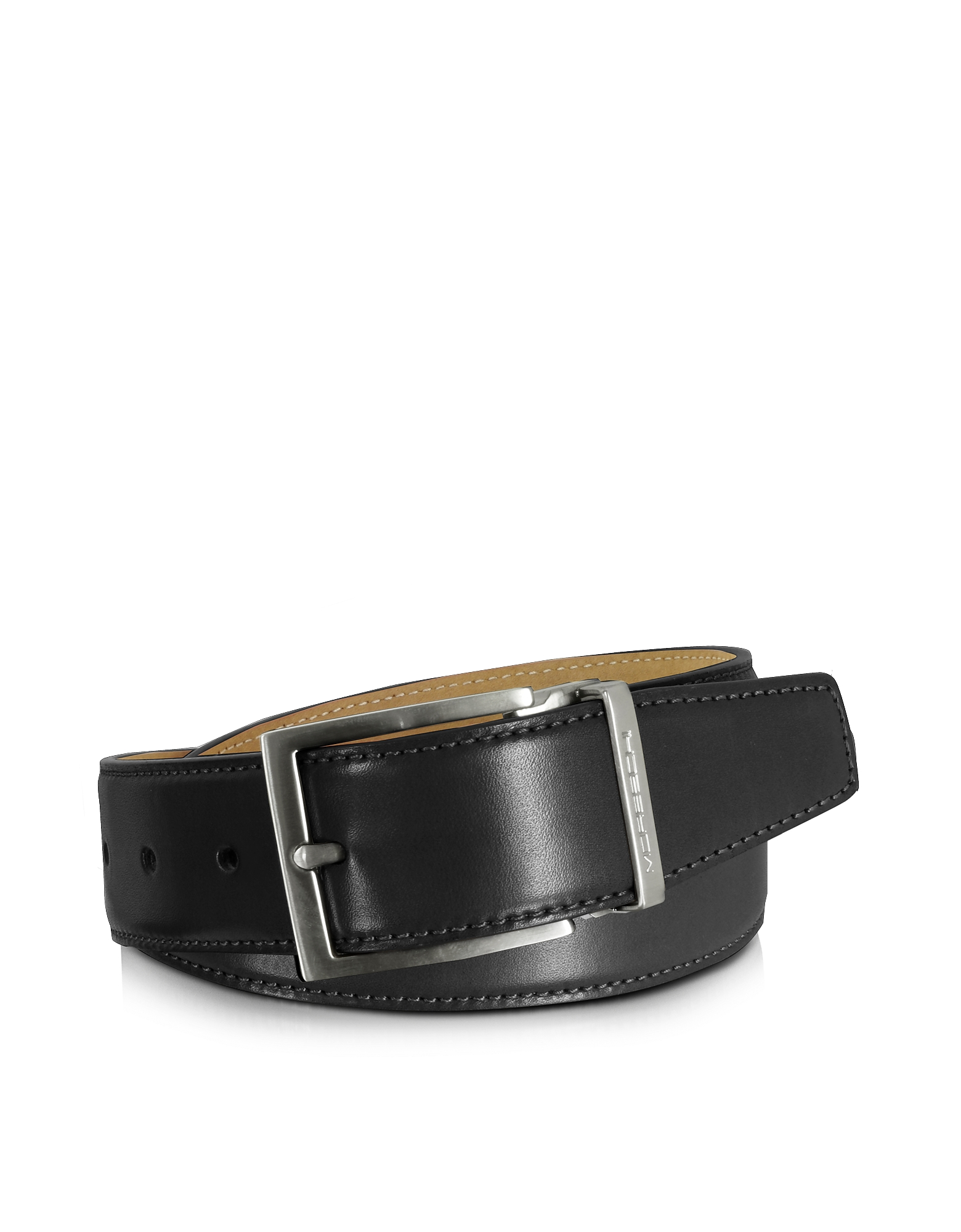 Moreschi Men's Belts, Eton Black Leather Belt