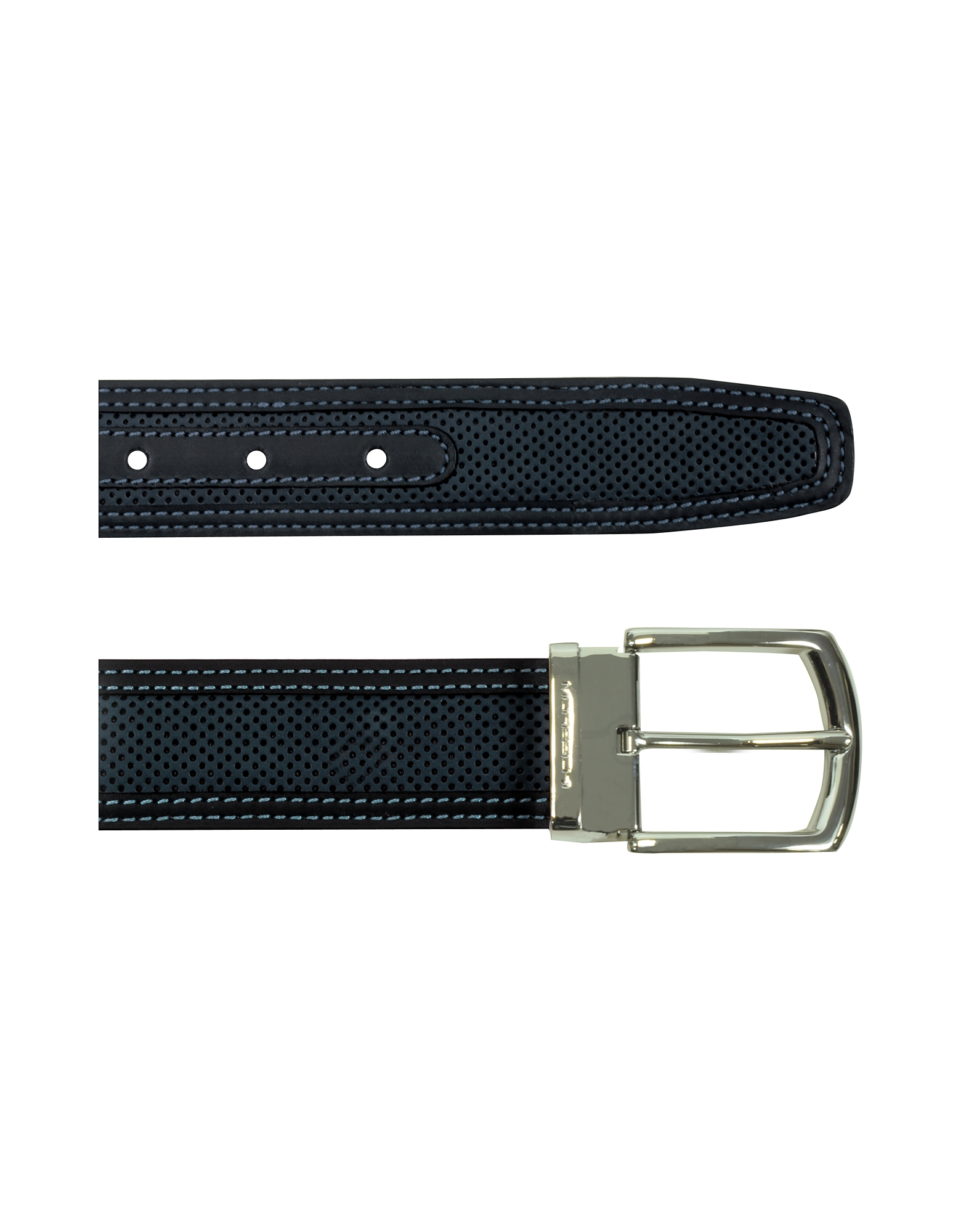 St.Barth Black Perforated Nubuck and Leather Belt от Forzieri.com INT