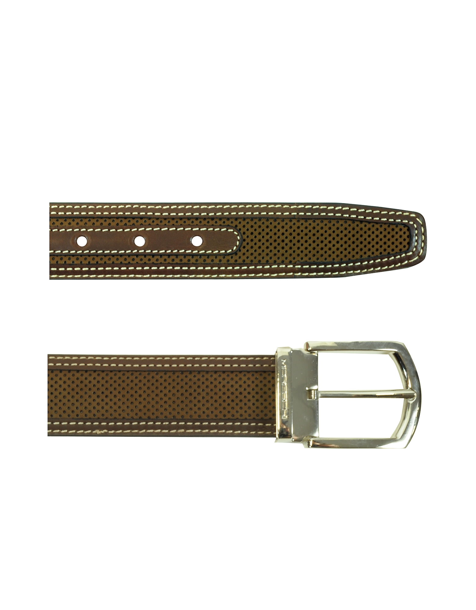 St.Barth Brown Perforated Nubuck and Leather Belt от Forzieri.com INT