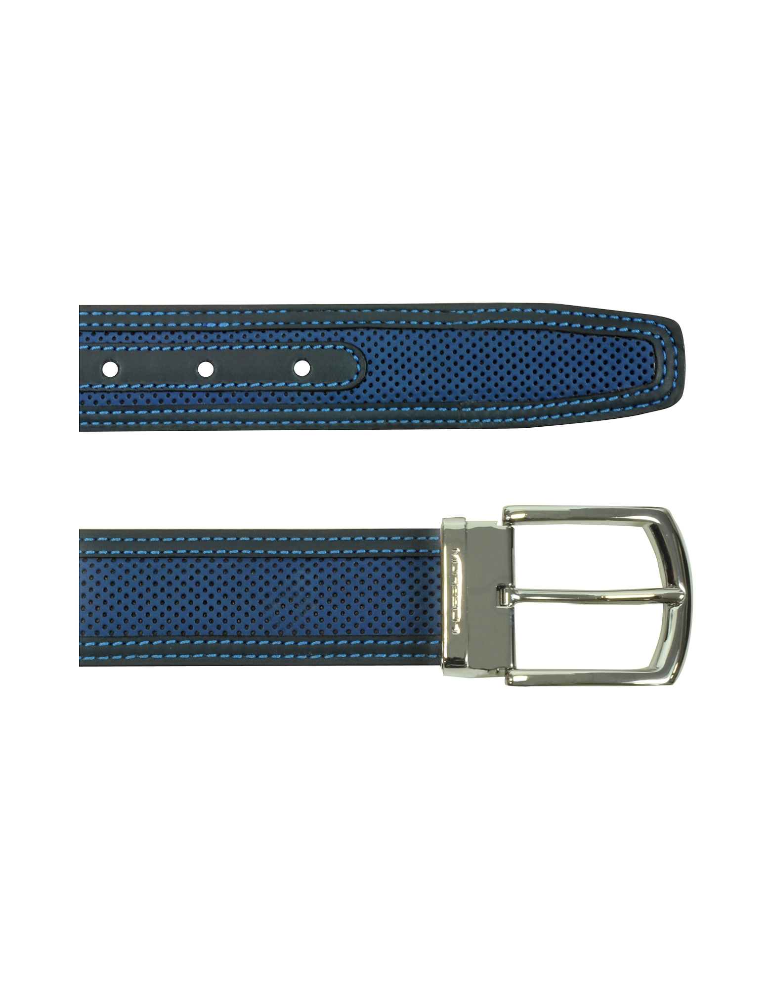 St.Barth Navy Blue Perforated Nubuck and Leather Belt от Forzieri.com INT