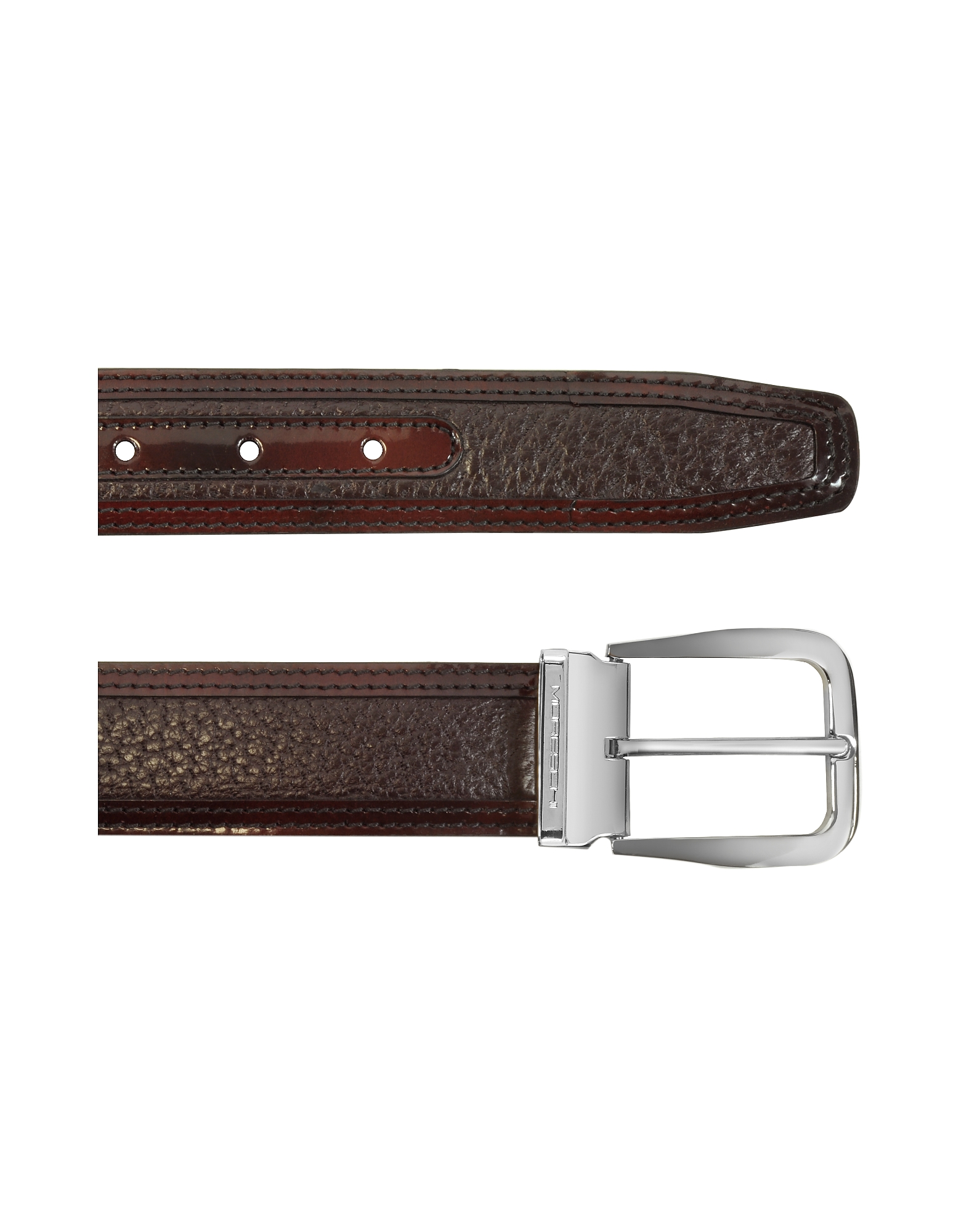 Lione Burgundy Peccary and Leather Belt от Forzieri.com INT