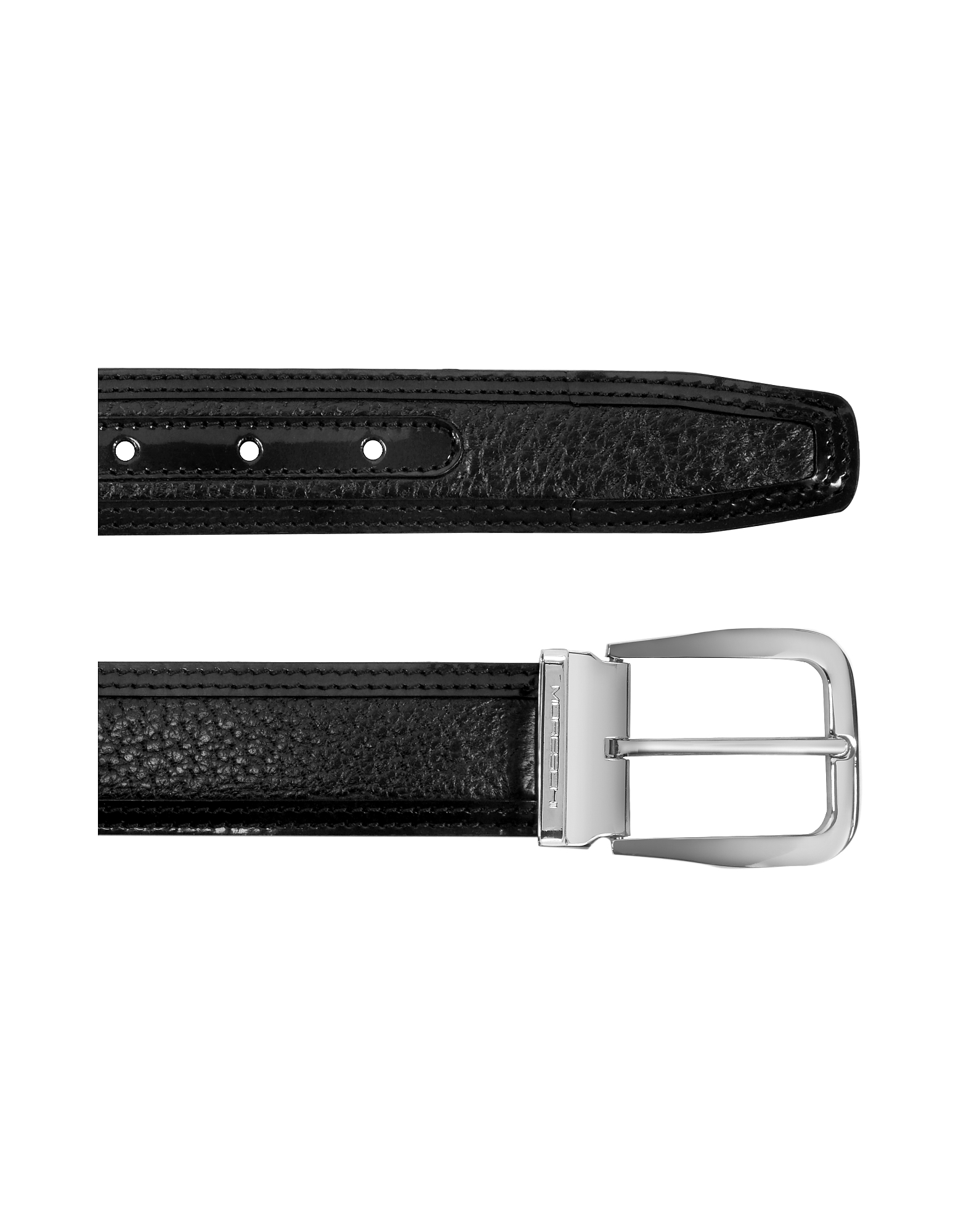 Lione Black Peccary and Leather Belt от Forzieri.com INT