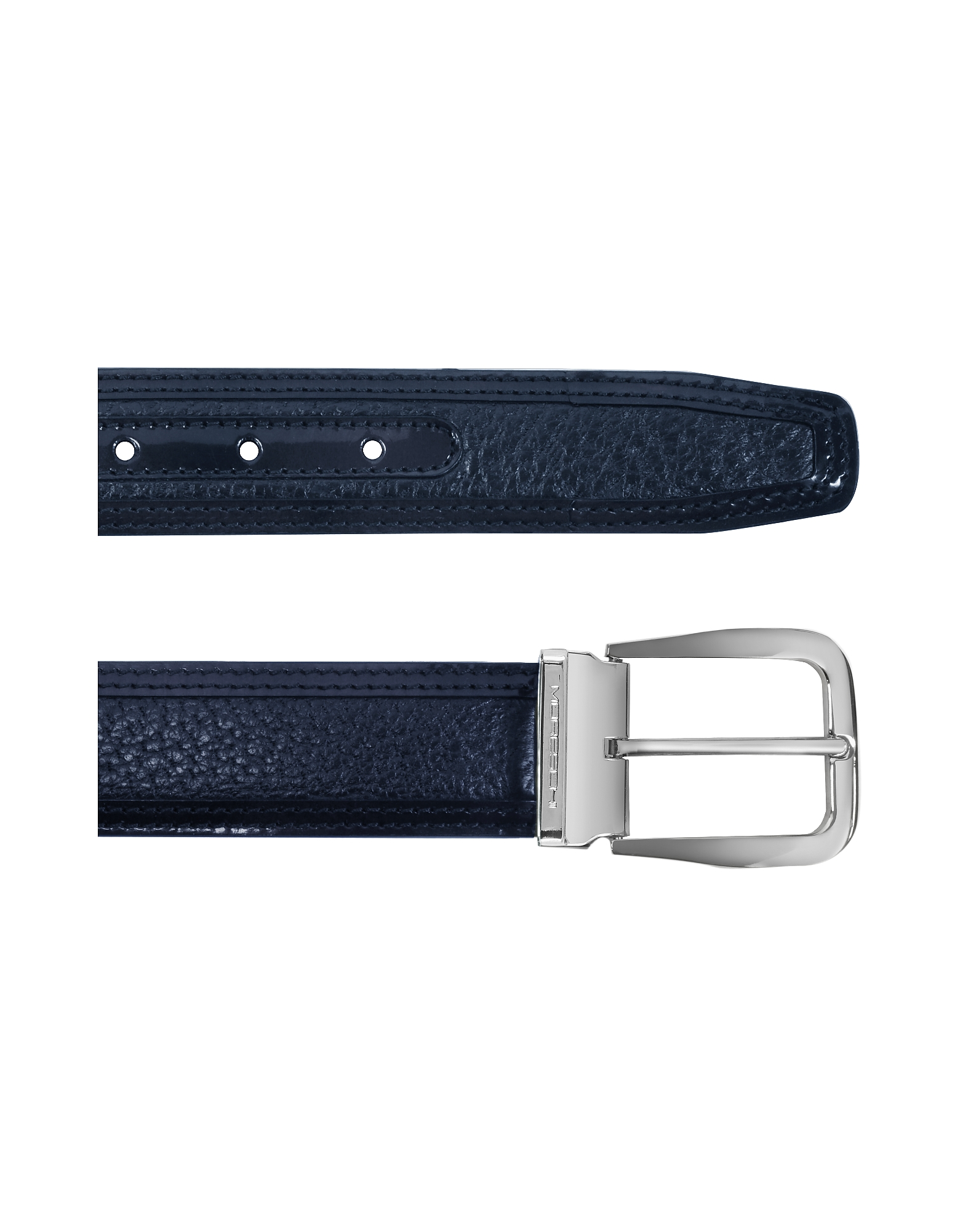 Lione Navy Blue Peccary and Leather Belt от Forzieri.com INT