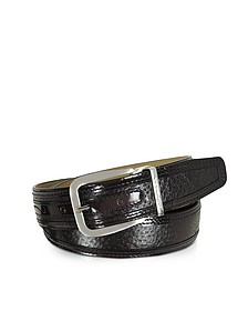 Lione Brown Peccary and Leather Belt  - Moreschi