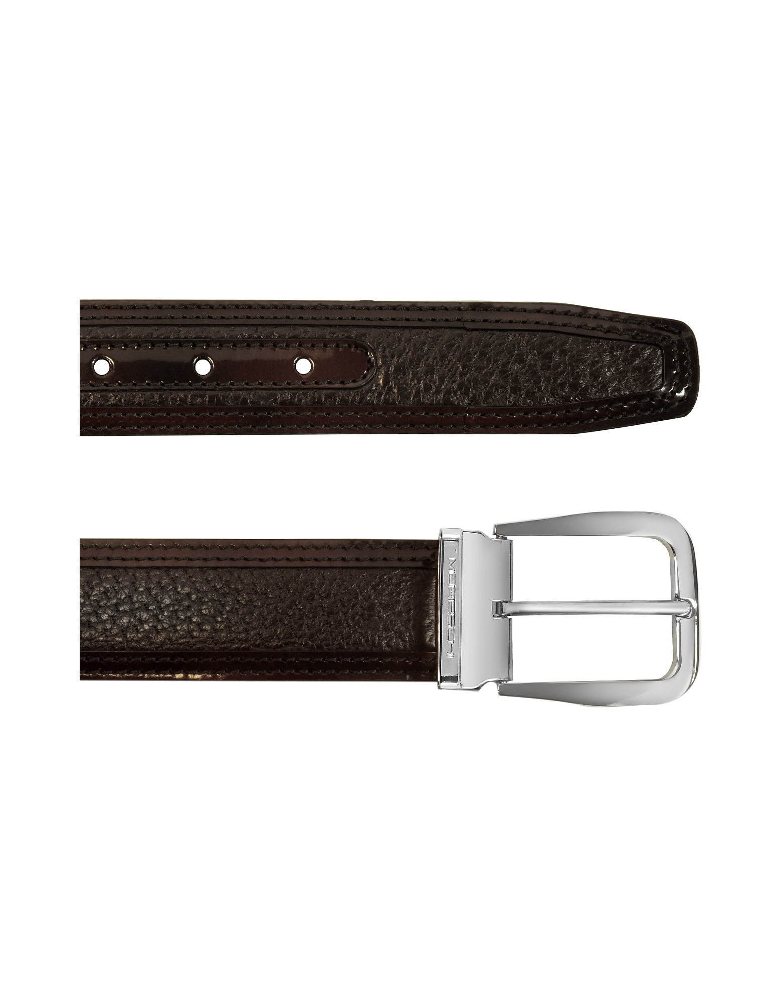 Lione Brown Peccary and Leather Belt от Forzieri.com INT