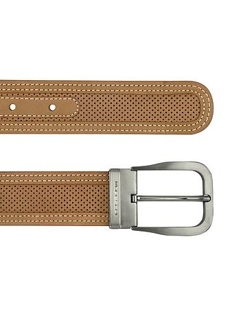 Moreschi - Men's Tan Perforated Leather Belt