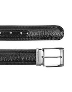 Lux-ID 208482 Chiasso - Black Peccary and Calf Leather Belt
