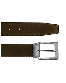 Dallas - Dark Brown Suede Leather Belt - Moreschi