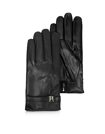 Moreschi Alaska Herren-Handschuhe aus Leder in schwarz mit Kaschmirfutter