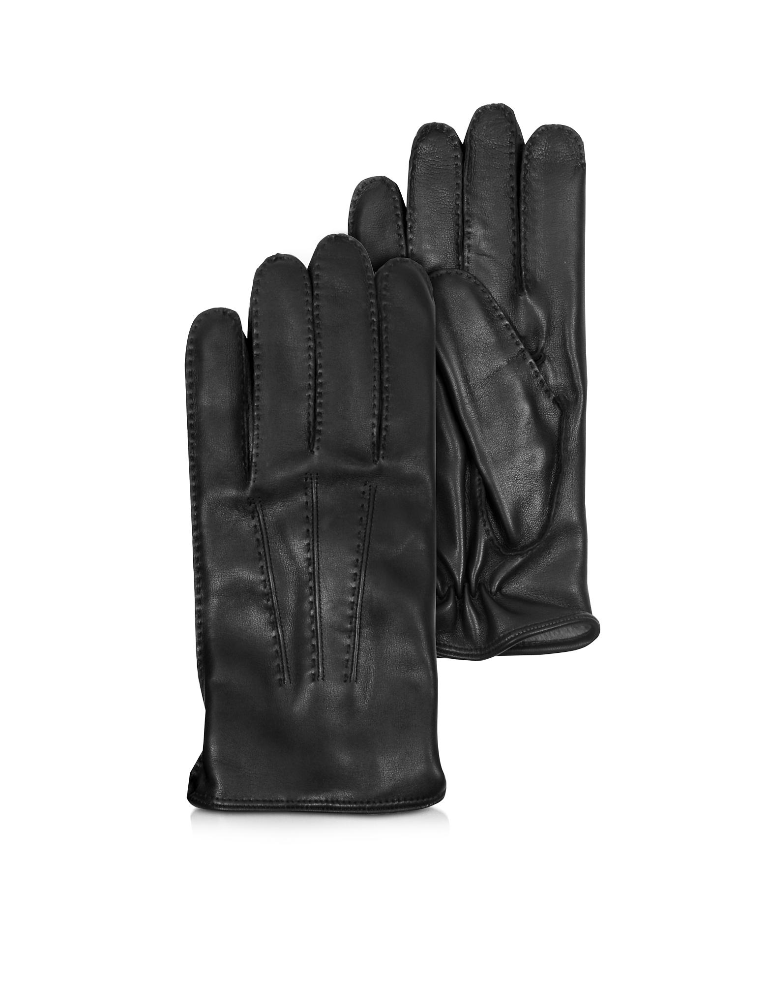 Canada - Черные Кожаные Мужские Перчатки с Подкладкой из Кашемира