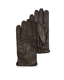 Canada Herren-Handschuhe aus Leder in dunkelbraun mit Kaschmirfutter - Moreschi