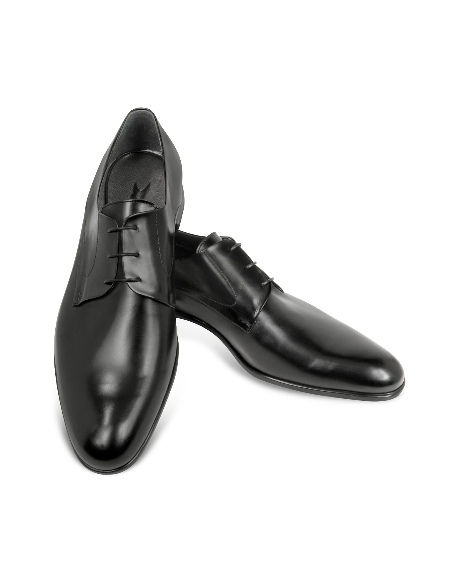 Moreschi Shoes, Liverpool Black Leather Derby Shoes