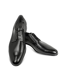 Liverpool Black Leather Derby Shoes - Moreschi