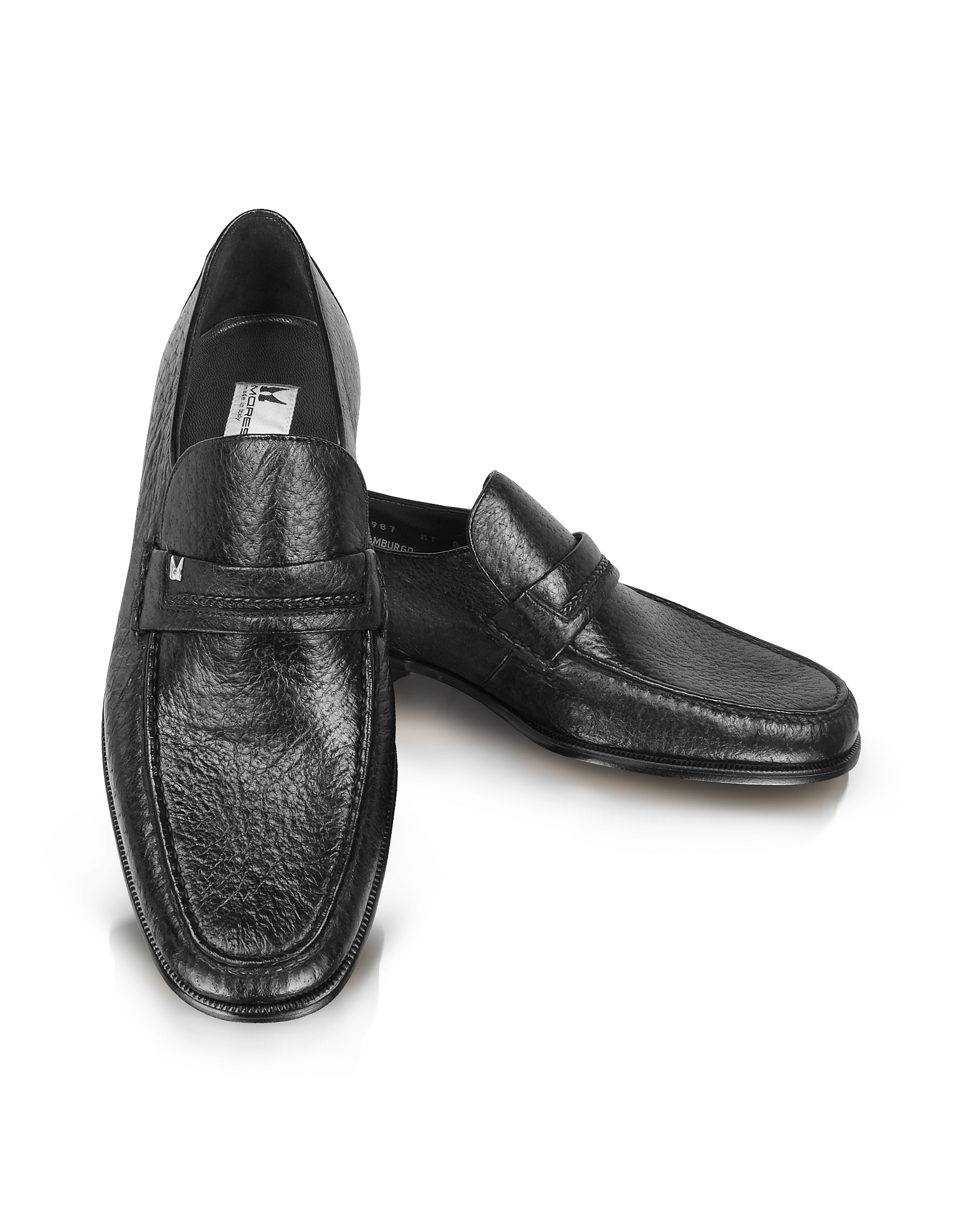 Moreschi Shoes, Amburgo - Buckle Black Loafer Shoes