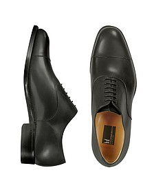 Londra - Black Calfskin Cap Toe Oxford Shoes - Moreschi