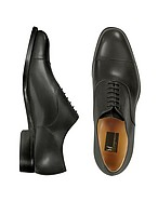 Lux-ID 208555 Londra - Black Calfskin Cap Toe Oxford Shoes