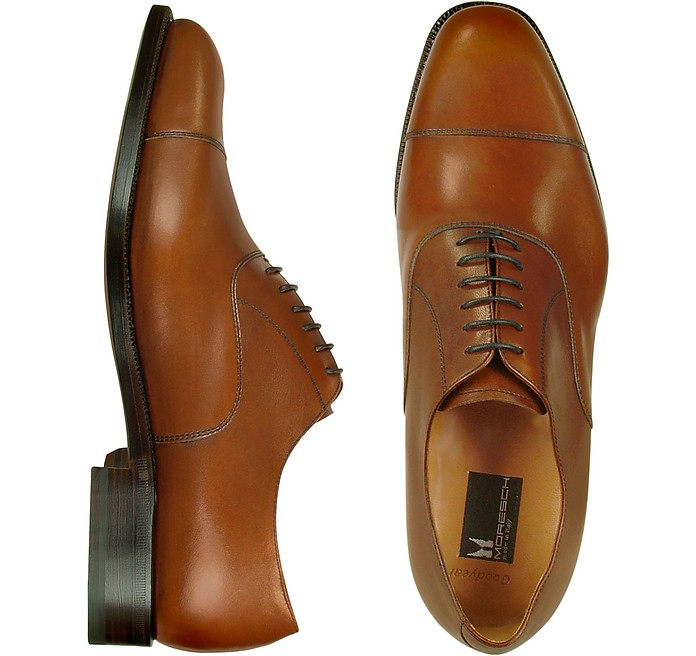 Londra - Tan Calfskin Cap Toe Oxford Shoes - Moreschi