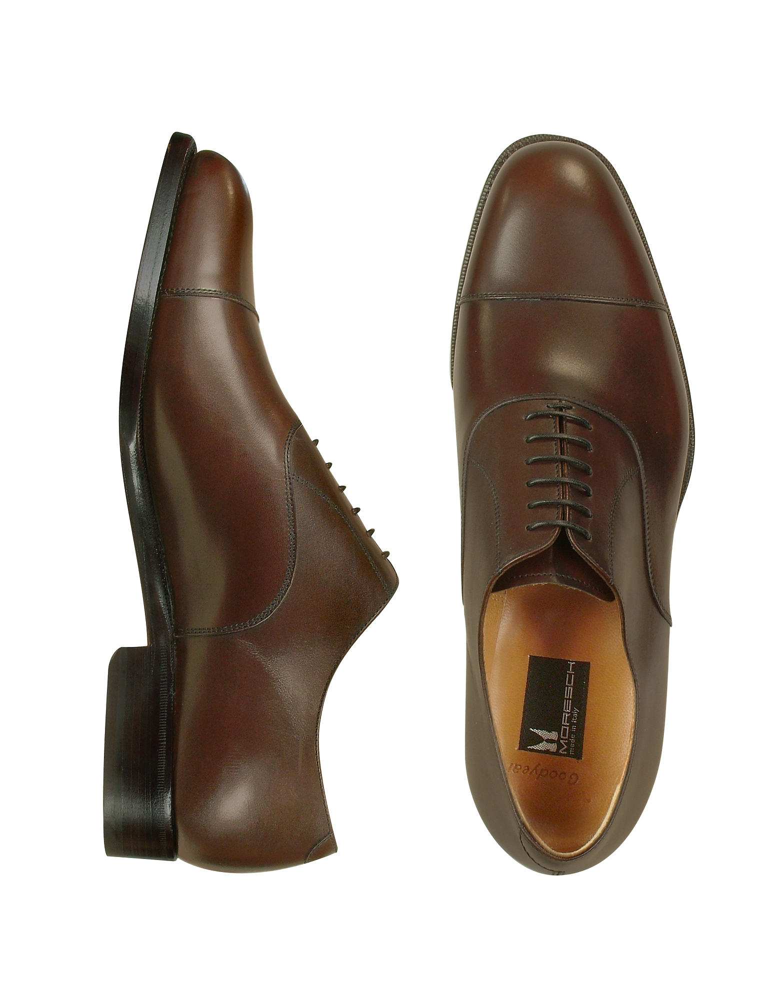 Moreschi Shoes, Londra - Dark Brown Calfskin Cap Toe Oxford Shoes