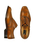 Lux-ID 208039 Oxford - Tan Calfskin Wingtip Shoes