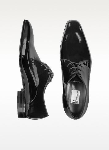 Salzburg - Black Patent Leather Lace-up Evening Shoes - Moreschi