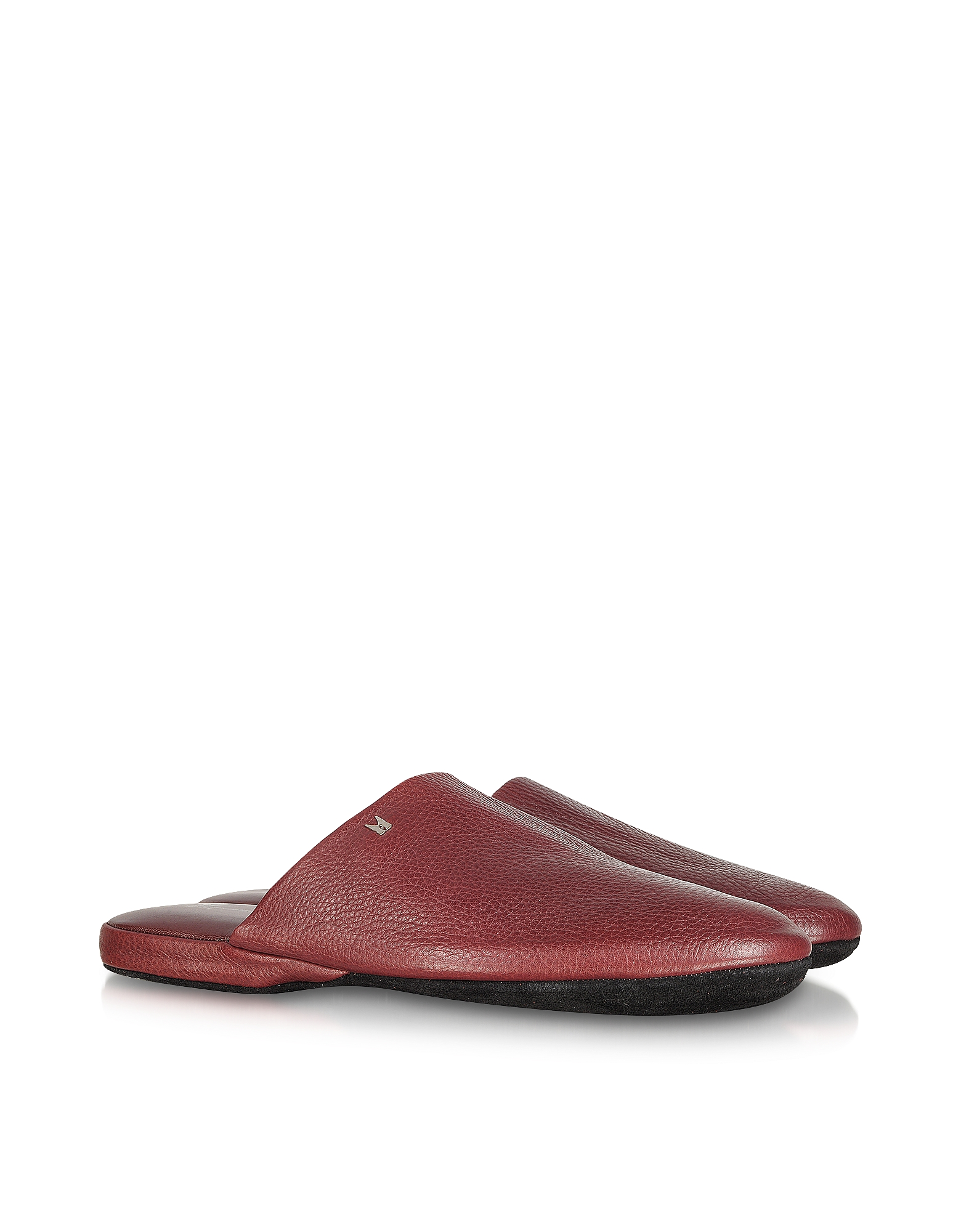 Moreschi Shoes, Amerigo - Burgundy Nappa Leather Travel Slippers w/Case