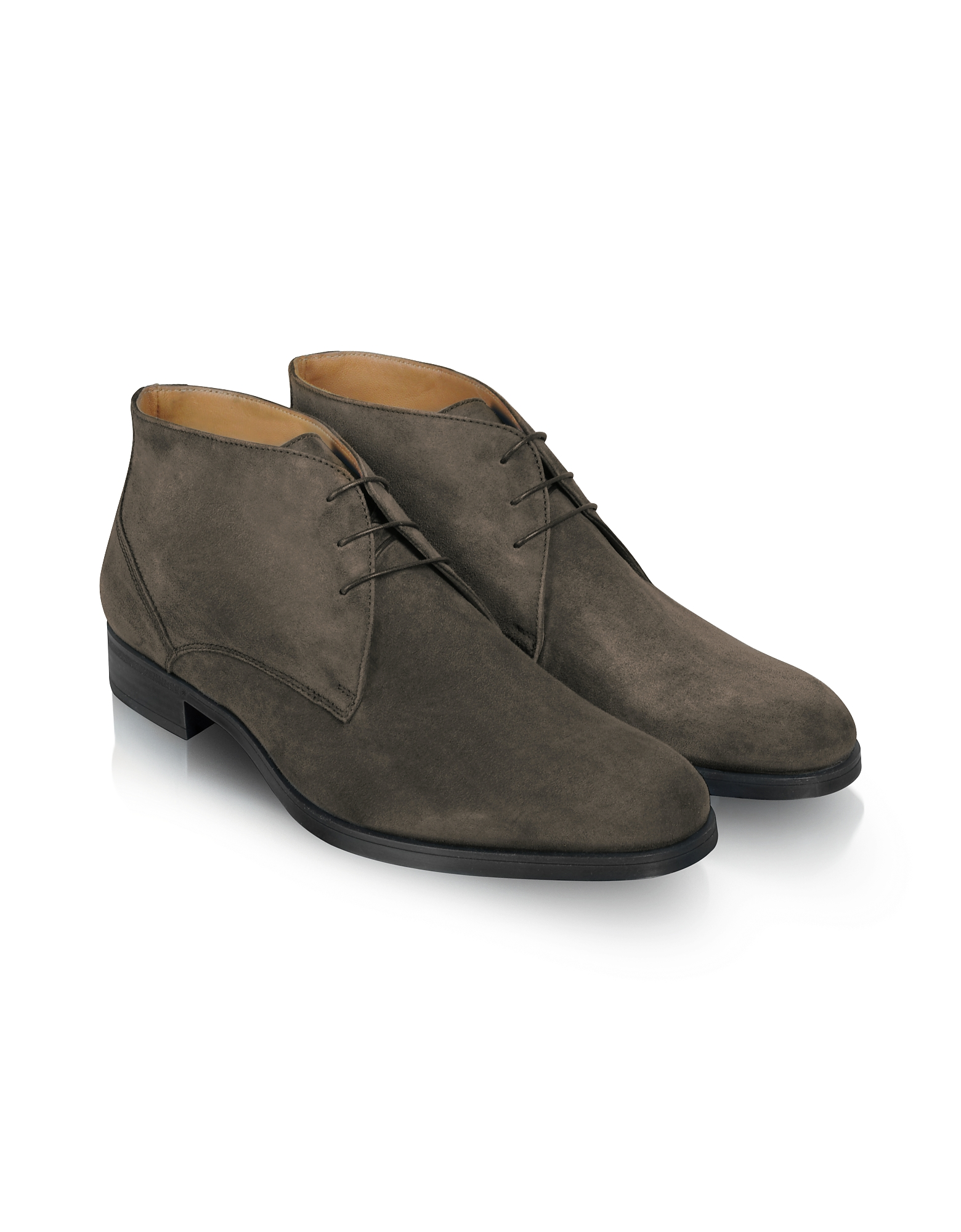 Moreschi Shoes, Stiria - Gray Suede Ankle Boots
