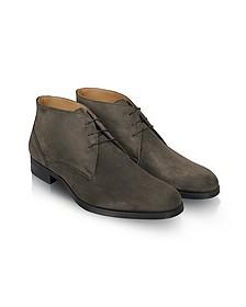 Stiria - Gray Suede Ankle Boots - Moreschi