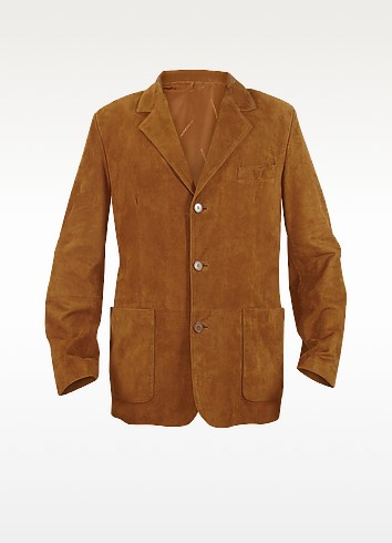 Moreschi Рыжая Куртка-Блейзер из Замши