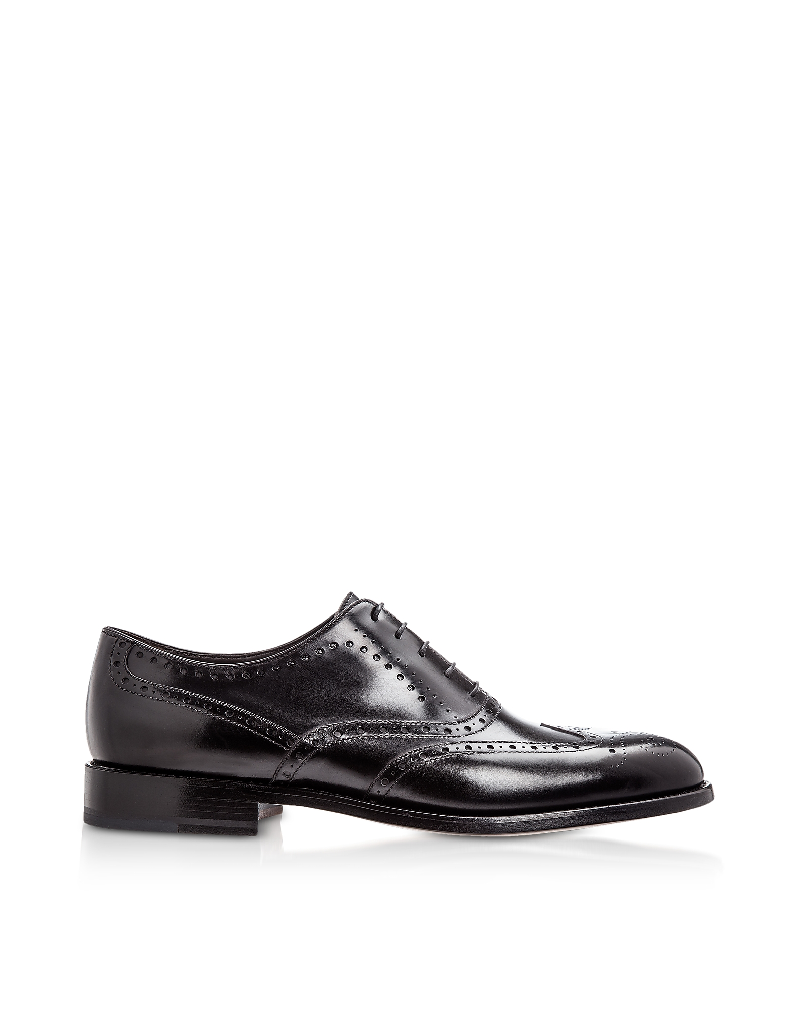 Moreschi Shoes, Boston Black Calfskin Oxford Shoes