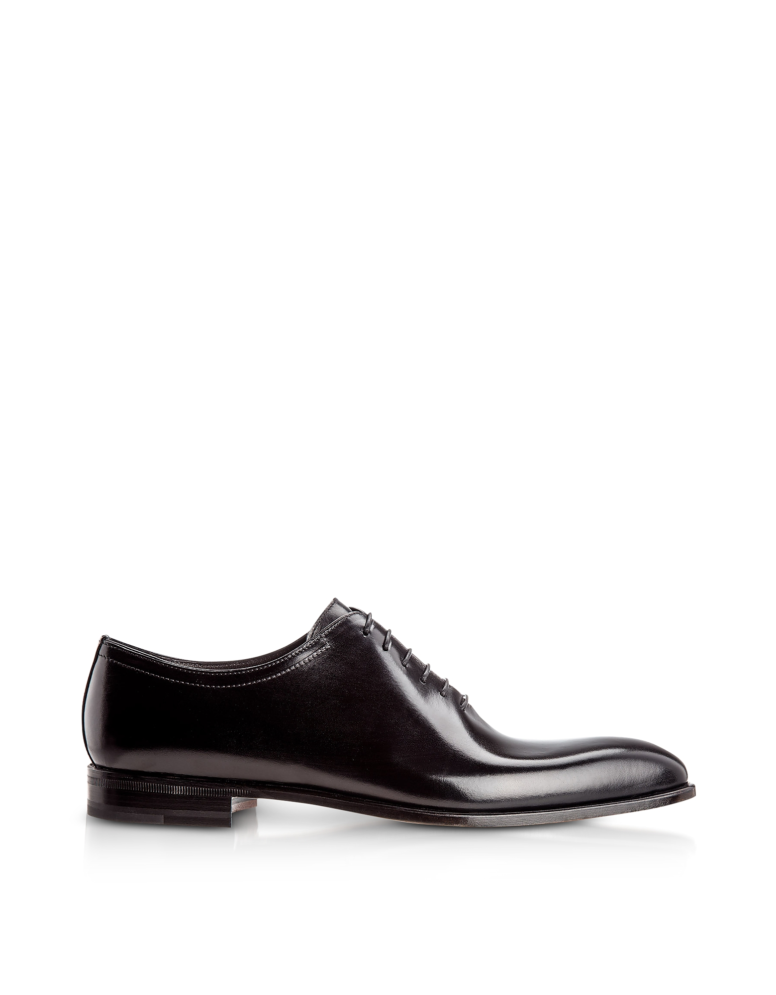 Moreschi Designer Shoes, Montreal Black Antiqued Calfskin Oxford Shoes