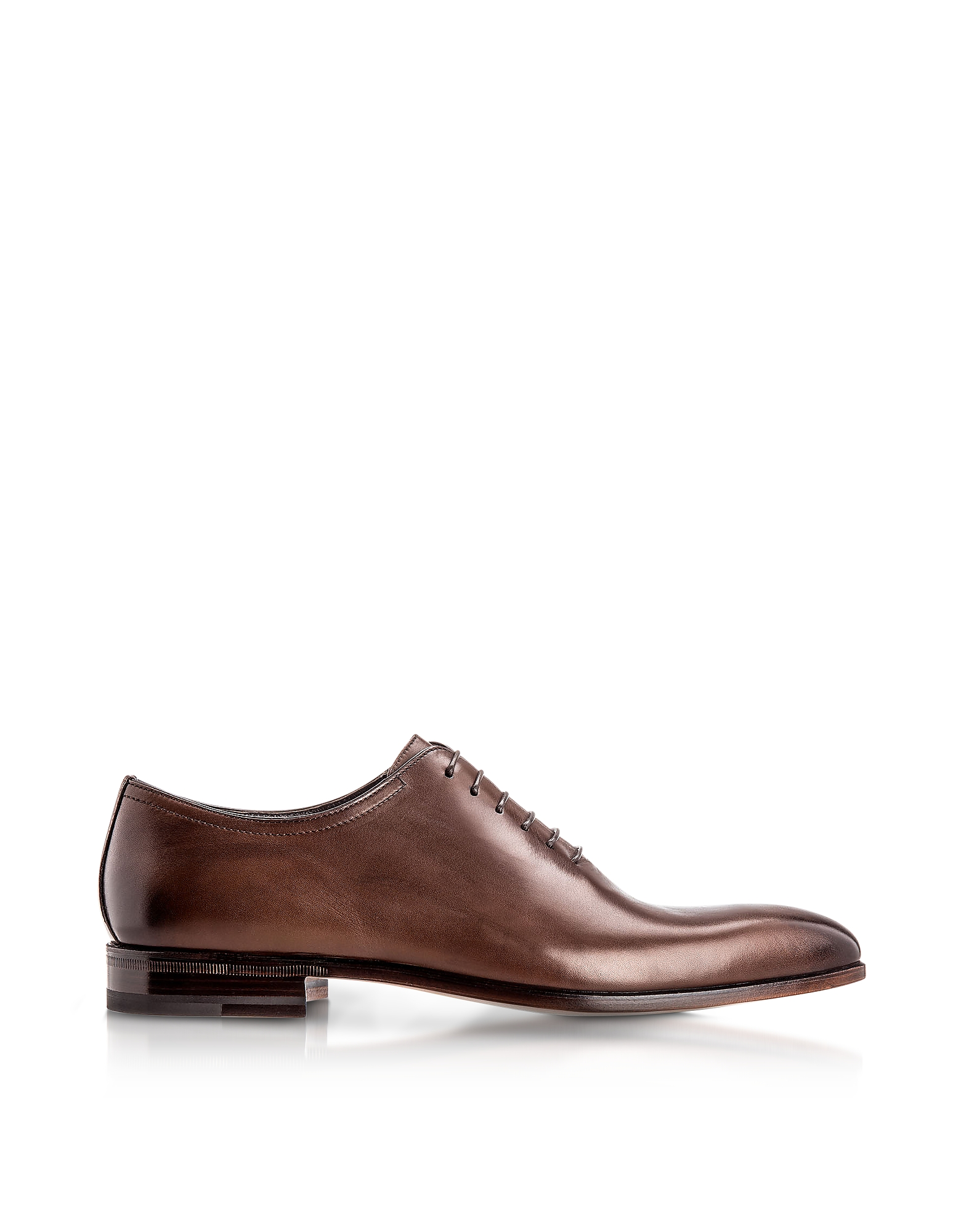 Moreschi Designer Shoes, Montreal Brown Antiqued Calfskin Oxford Shoes