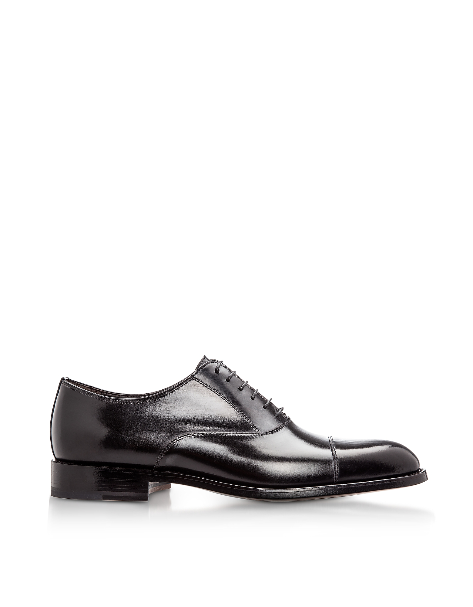 Moreschi Shoes, New York Black M Calfskin Oxford Shoes