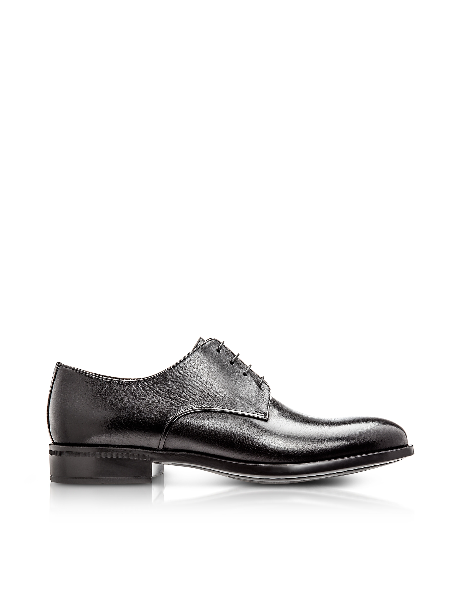 Moreschi Designer Shoes, Cork Black M Buffalo Leather Derby Shoes