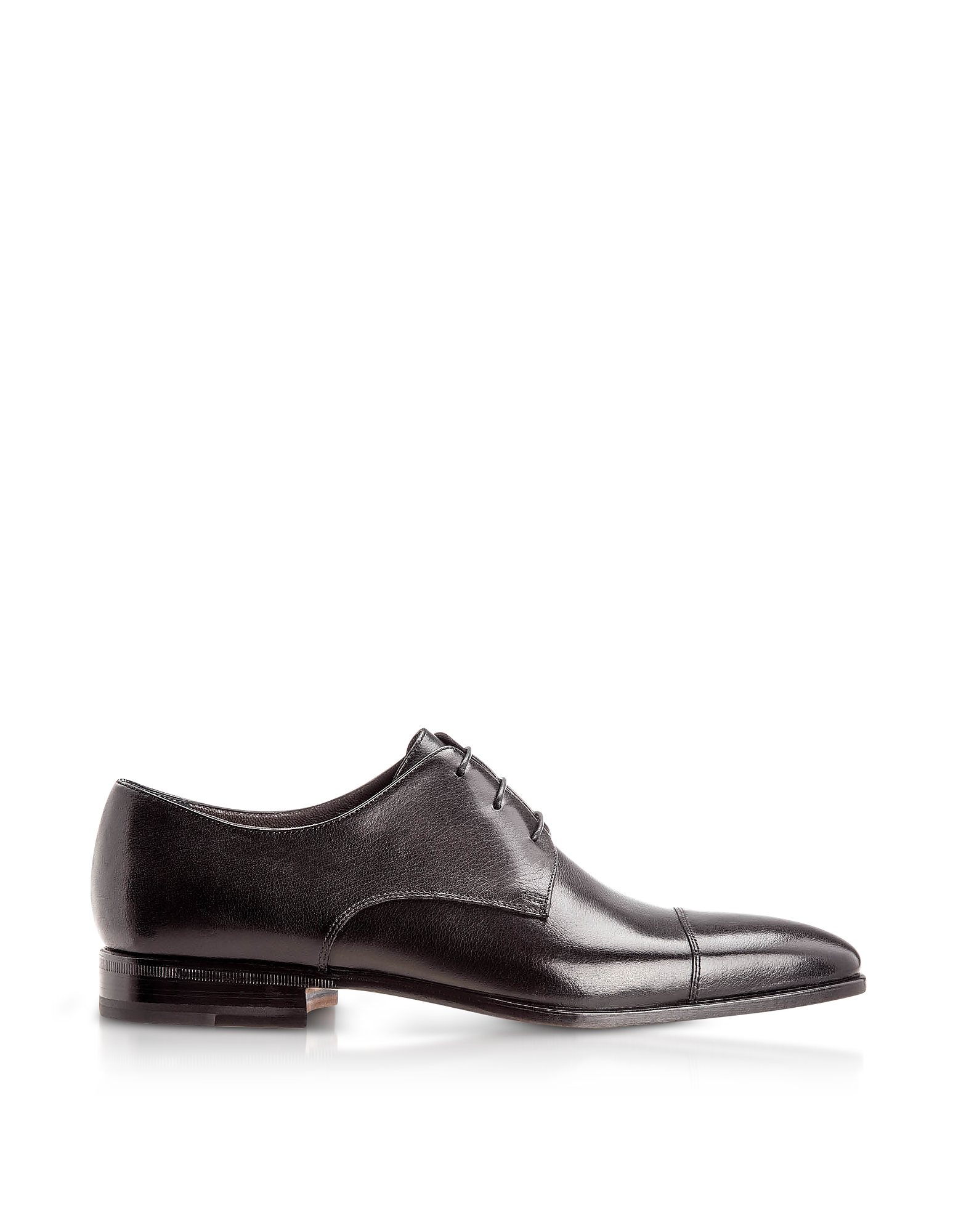Moreschi Shoes, Lipsia Black Buffalo Leather Derby Shoes