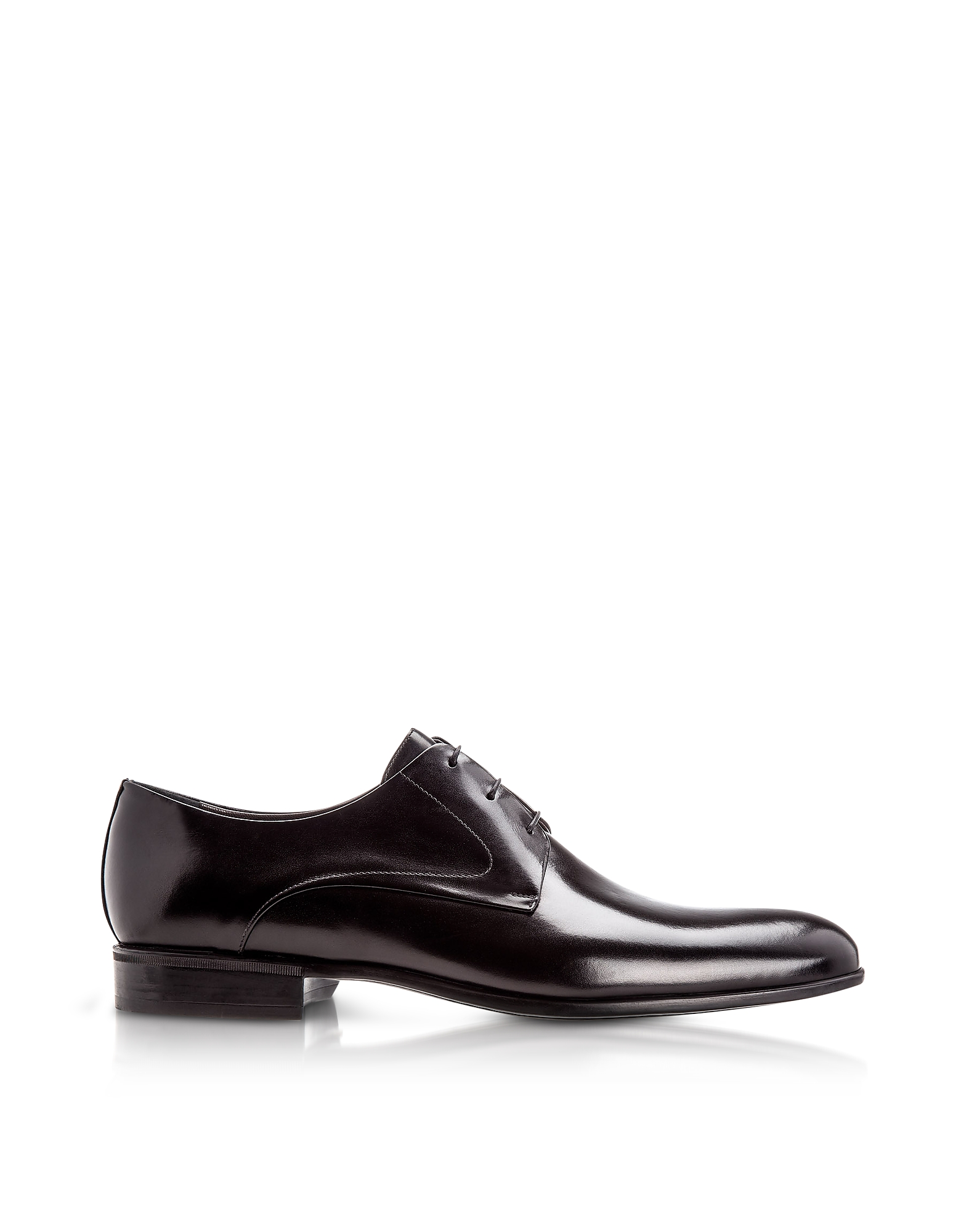 Liverpool Black Calfskin Derby Shoes