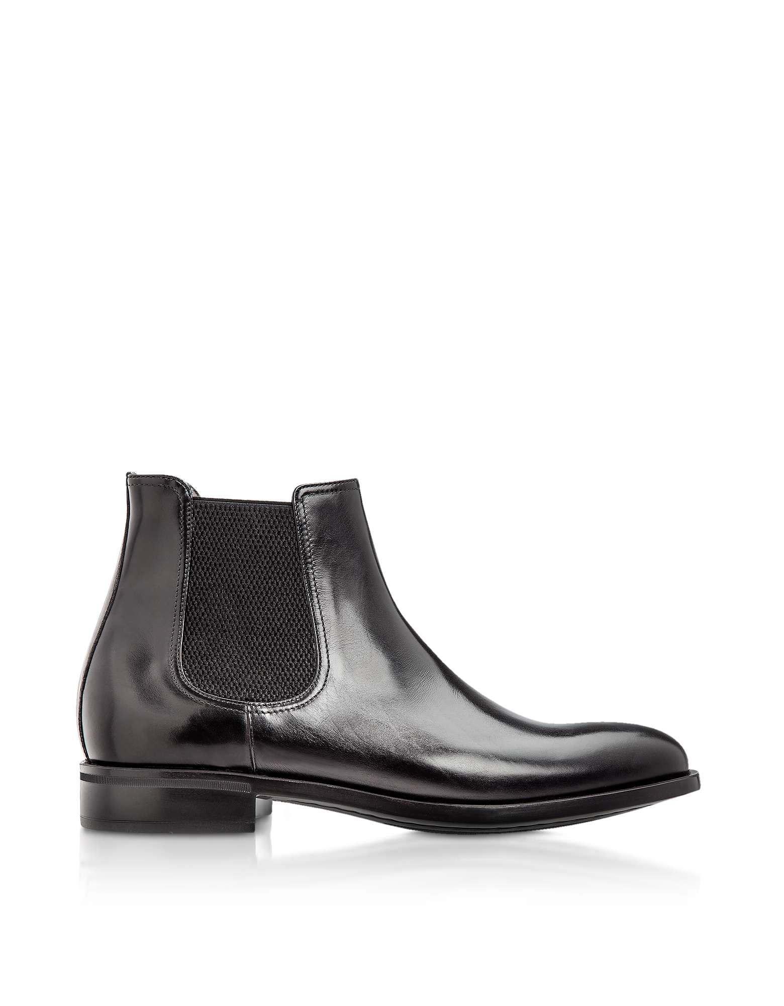 Moreschi Shoes, Chelsea Black Calfskin Boots