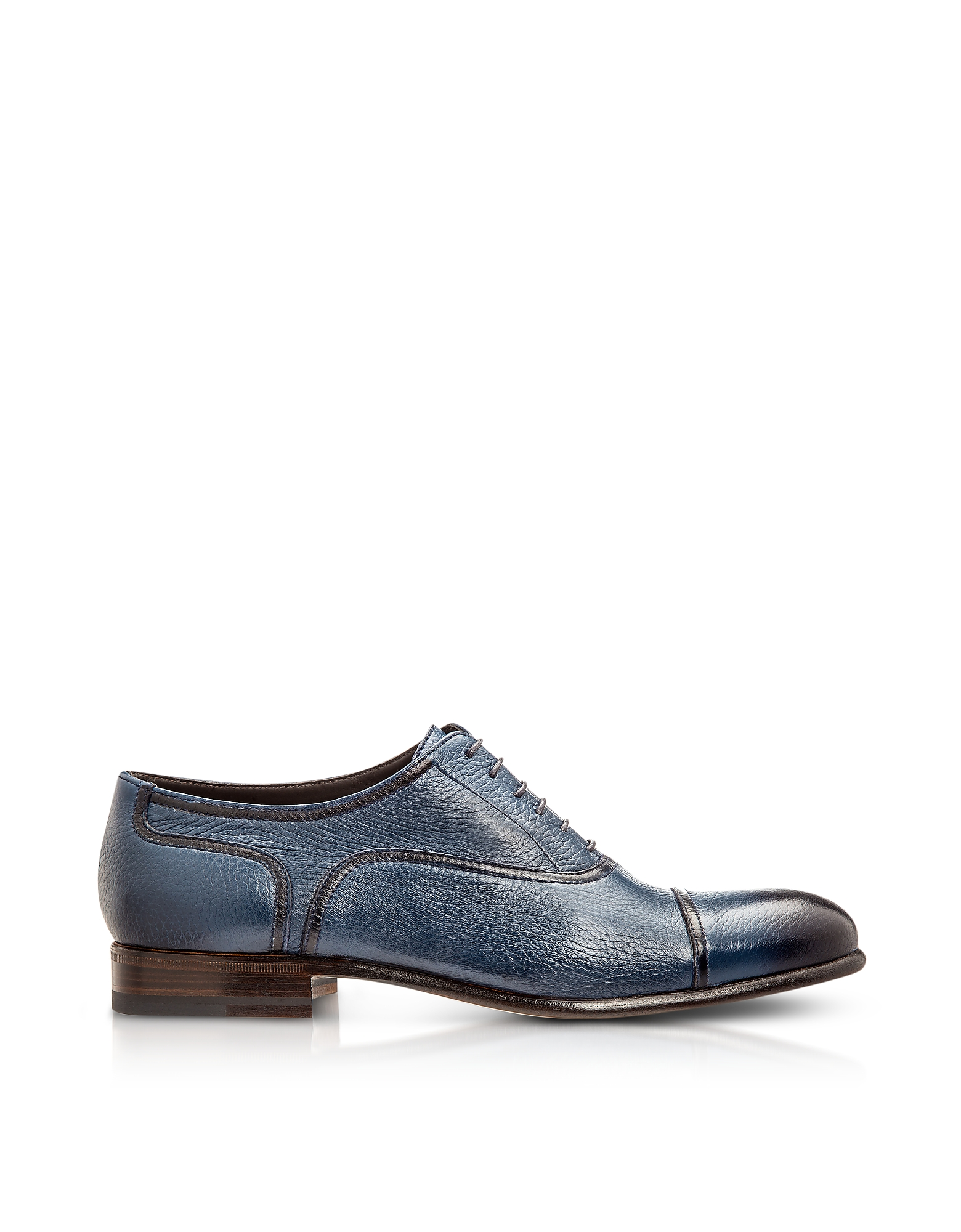 Moreschi Shoes, Nice Blue Deerskin Oxford Shoes