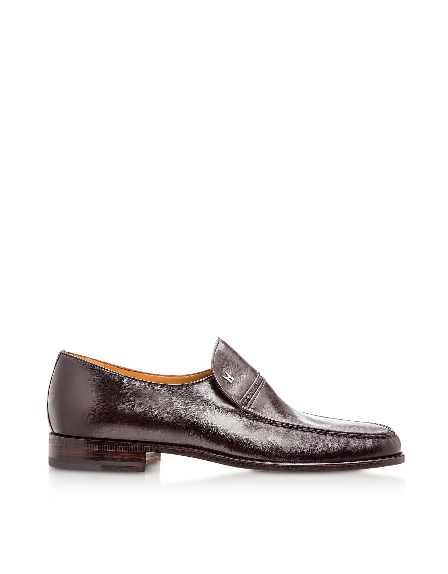 Moreschi Shoes, Bonn Dark Brown Lambskin Loafer Shoes