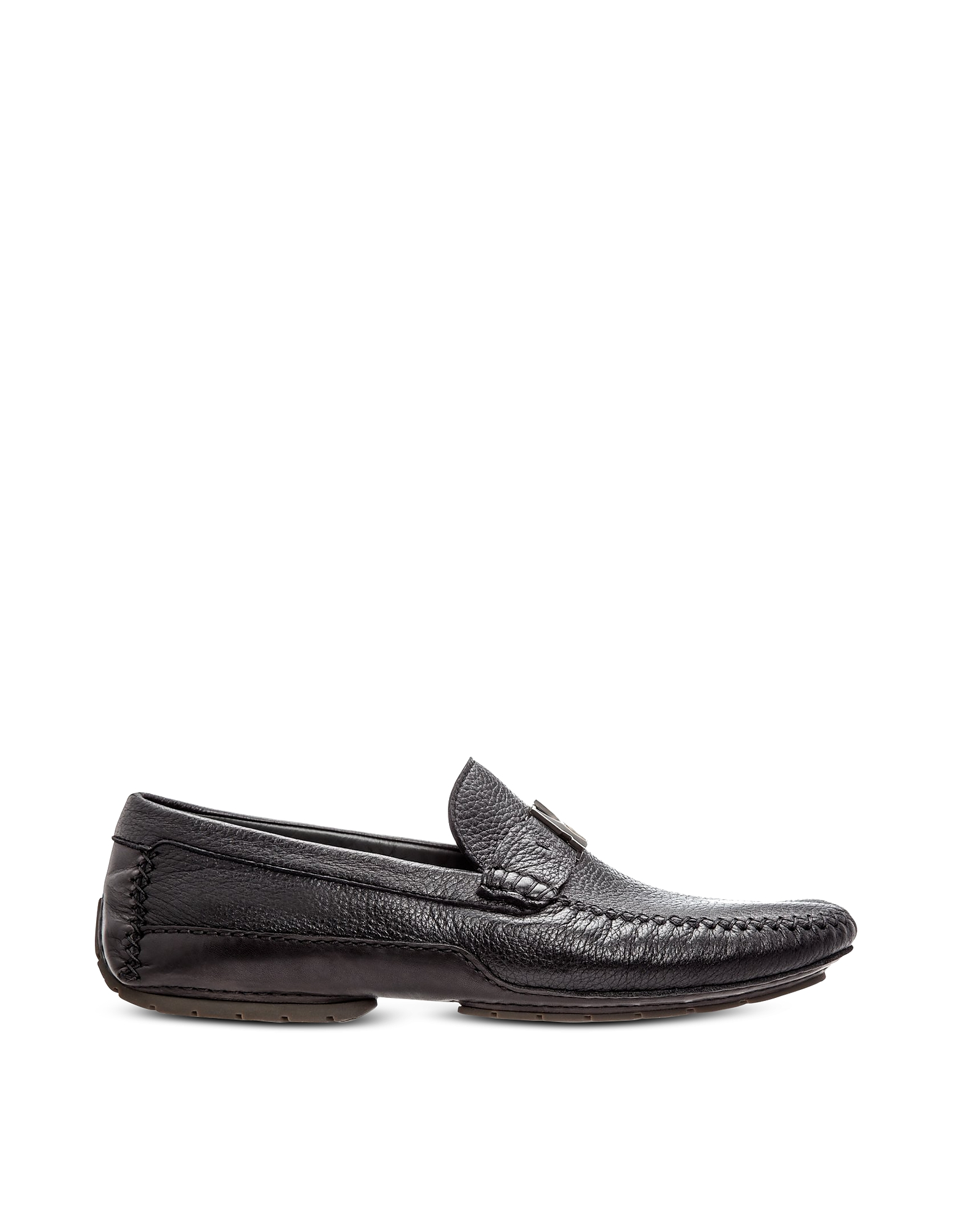 Moreschi Designer Shoes, Black Deerskin Driver Shoes