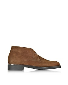 Seattle Brown Suede Ankle Boot w/Rubber Sole - Moreschi