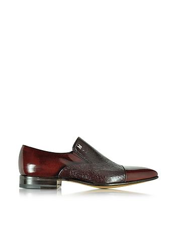 Metz Burgundy Leather Slip on Loafer
