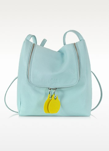 Pastel Blue Leather Crossbody Bag - MM6 Maison Martin Margiela