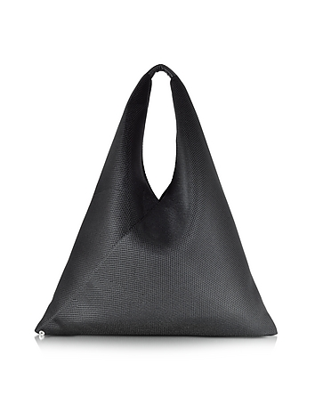 Black Perforated Scuba Mesh Japanese Tote