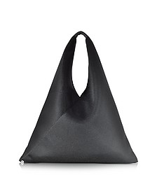 Black Perforated Scuba Mesh Japanese Tote  - MM6 Maison Martin Margiela