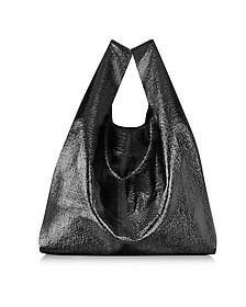 Black Glossy Eco Leather Tote - MM6 Maison Martin Margiela