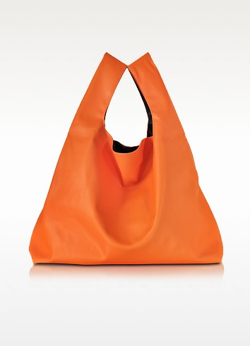 Pumpkin Orange Eco Leather Tote - MM6 Maison Martin Margiela