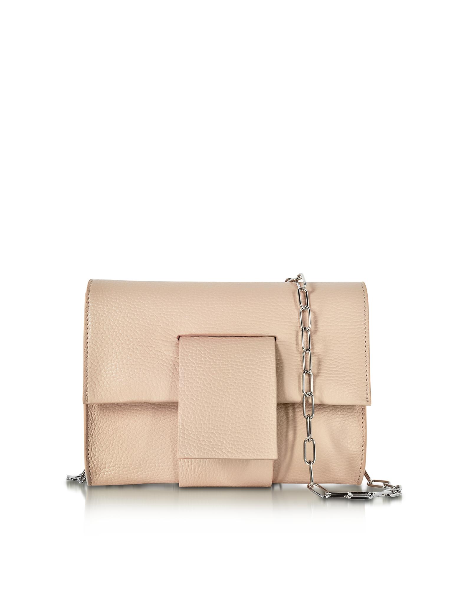 Фото Светло-розовый Клатч из Зернистой Кожи. Купить с доставкой