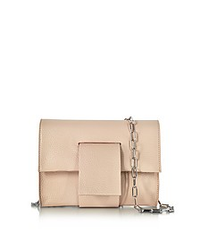 Powder Pink Grainy Leather Clutch w/Chain Strap - MM6 Maison Martin Margiela