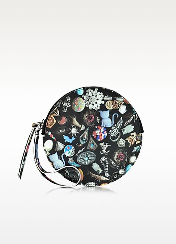 Jewelry Print Eco Leather Round Clutch - MM6 Maison Martin Margiela